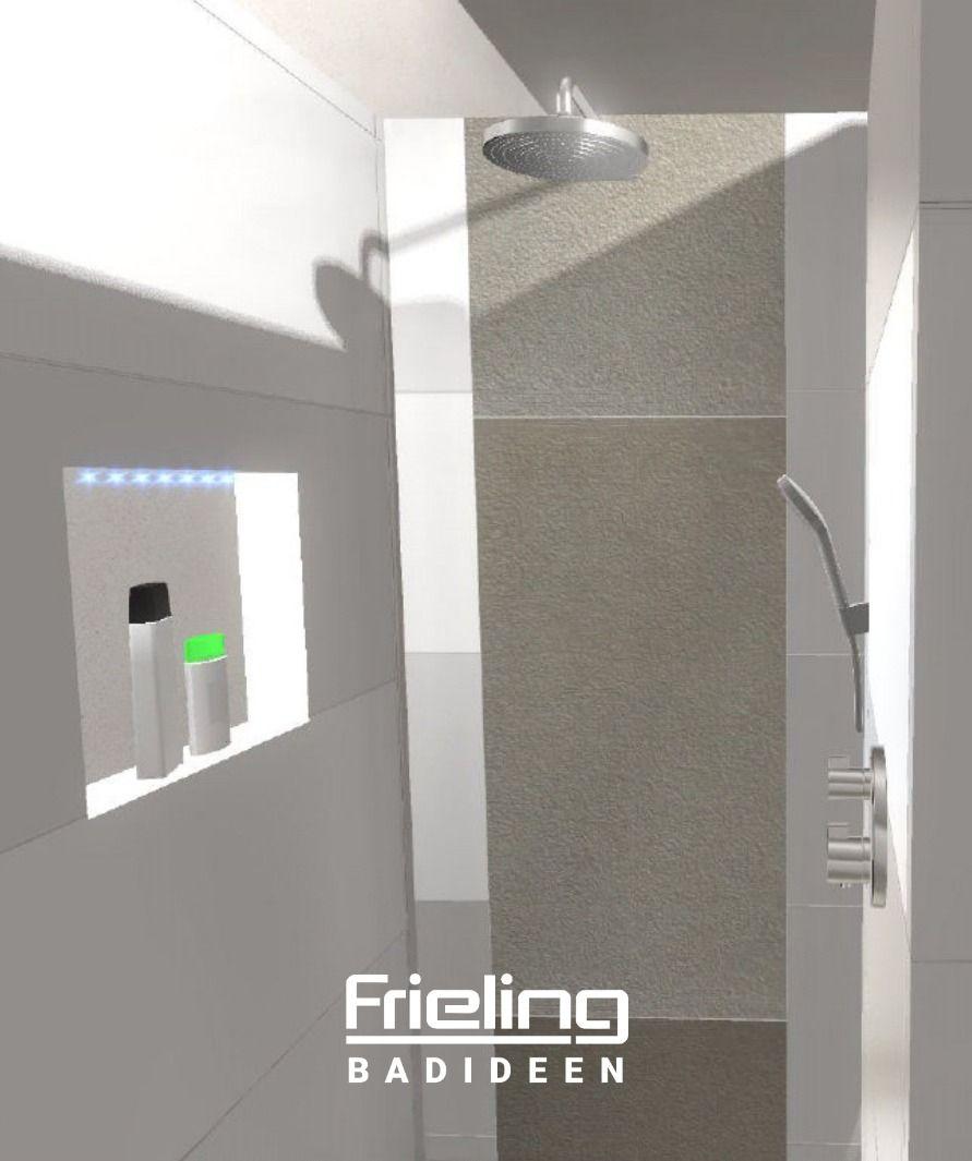 Nischen Nutzen Wand Als Sichtschutz Grosse Dusche Familienbad T Wand Ablageflache 16 Qm In 2020 Grosse Dusche Grosse Badezimmer Badezimmer