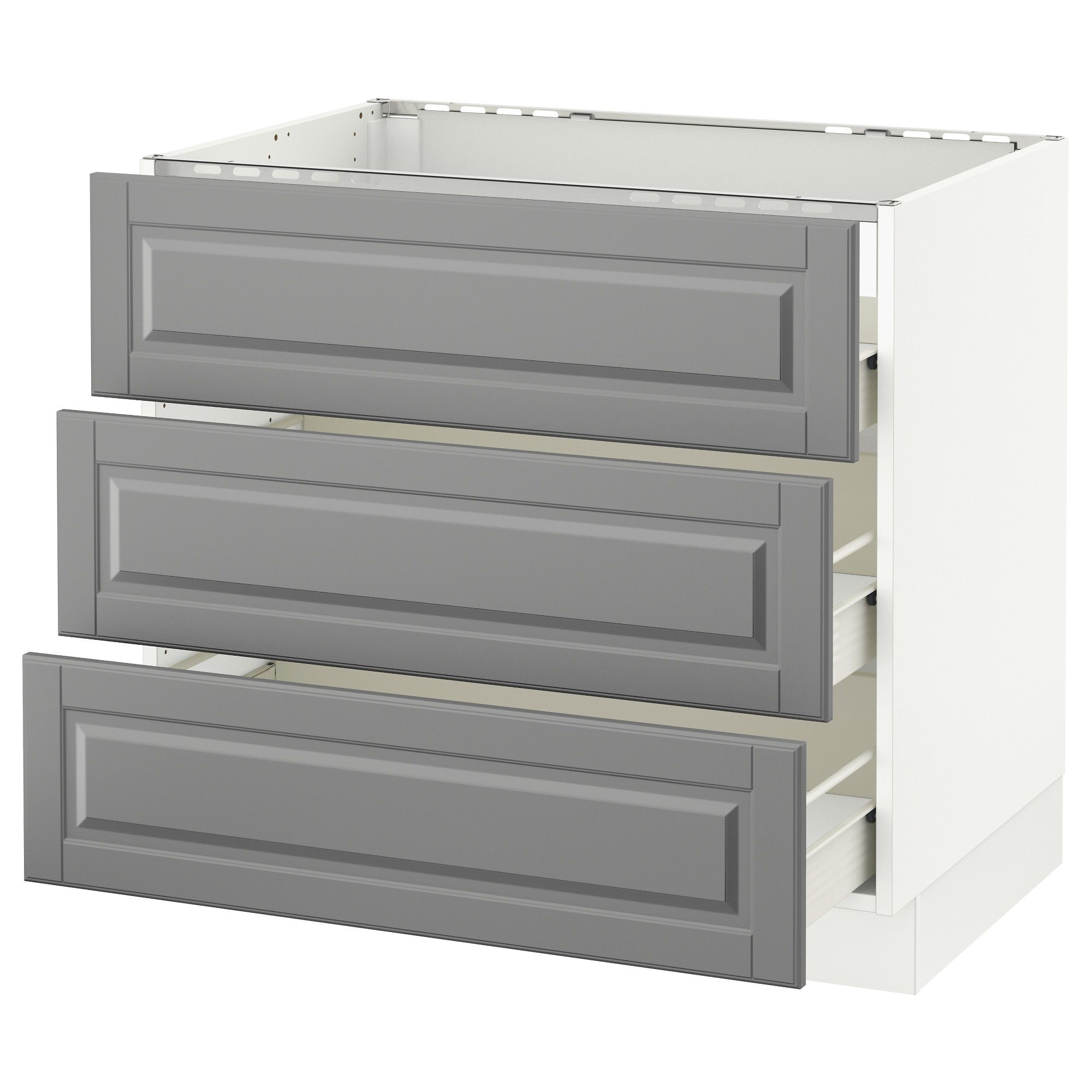 Base Cabinet F Cooktop W 3drawers White Forvara Bodbyn Gray 36x24x30 Base Cabinets Kitchen Base Cabinets Bodbyn Grey