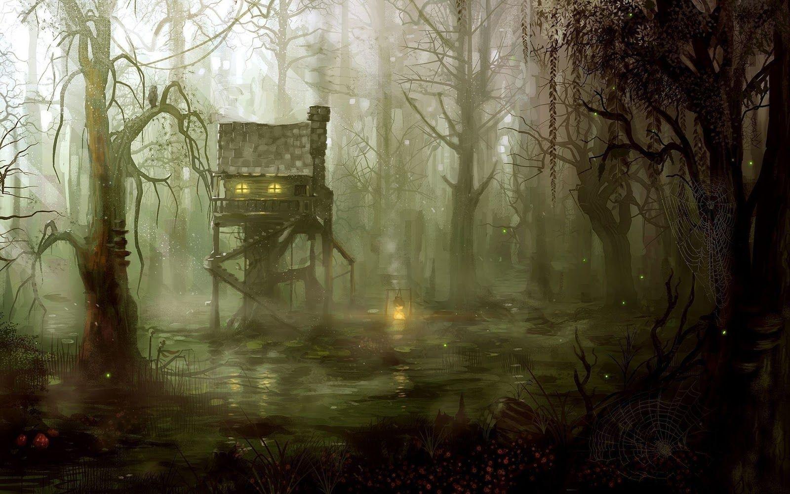 Fantasy Swamp House Art