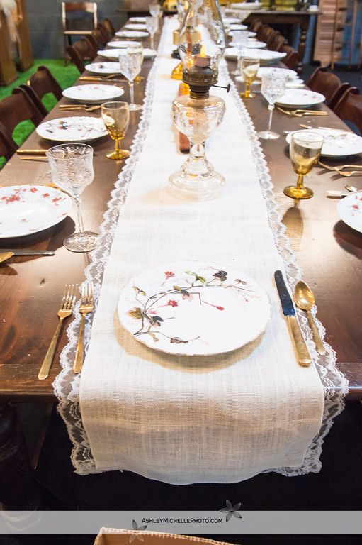 Charming Items Similar To Beautiful White Burlap And Lace Table Runner On Etsy