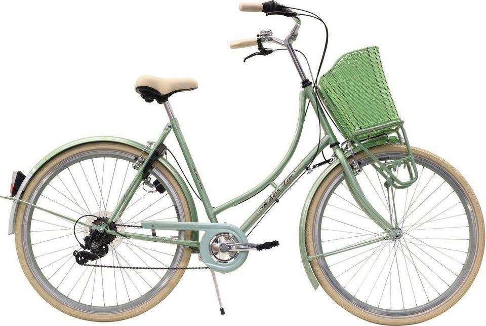 Fashion Line Urbanbike 6 Gang Shimano Tourney Ty 300 Schaltwerk Kettenschaltung Online Kaufen Otto Fahrrad Damen Hollandrad Fahrrad