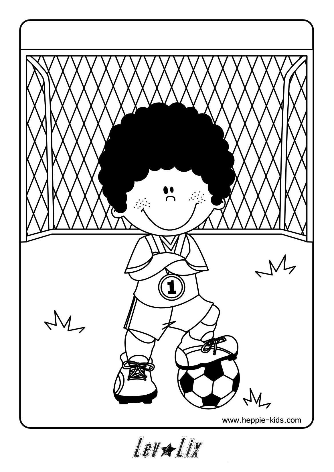 Quatang Gallery- Kleurplaat Voetbal Voetbal