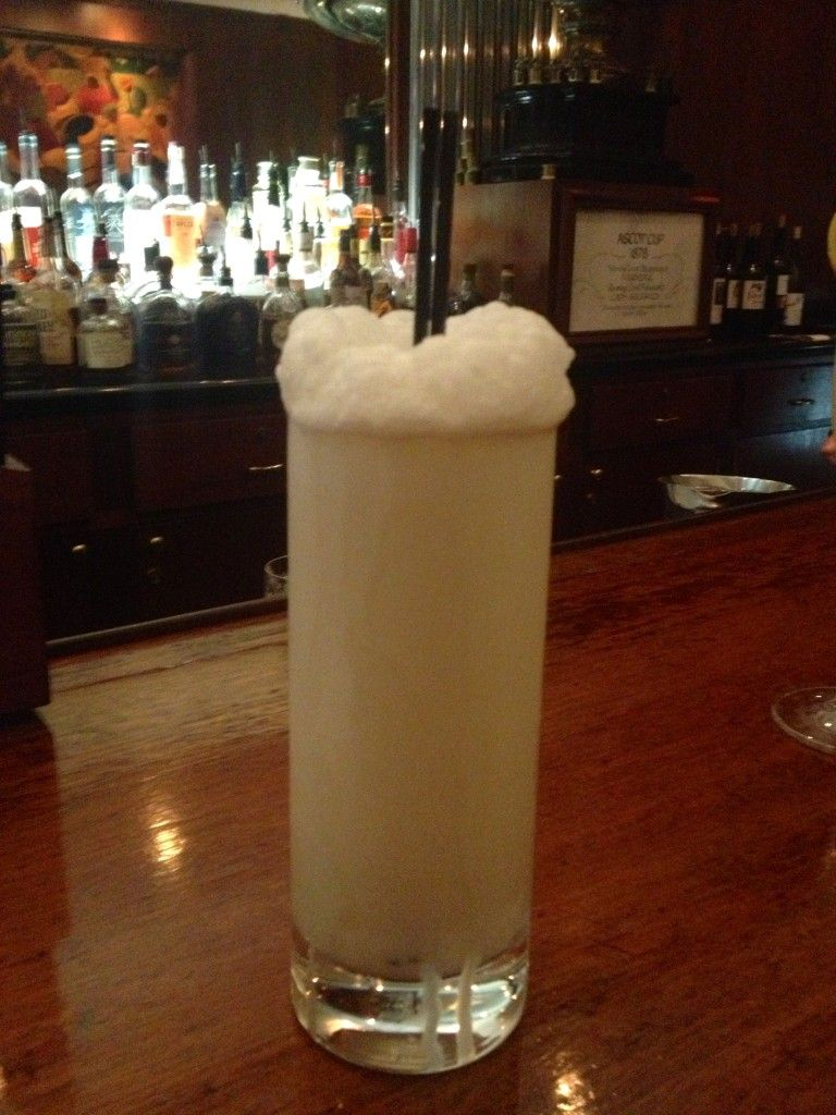 Ramos Gin Fizz #cocktail from the Sazerac Bar #nola