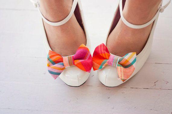 plaid shoe clips