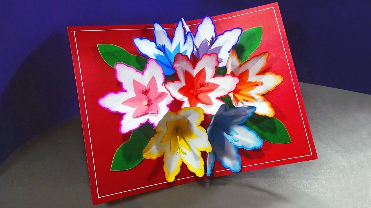 How To Make A 3d Flower Pop Up Card With Images Pop Up