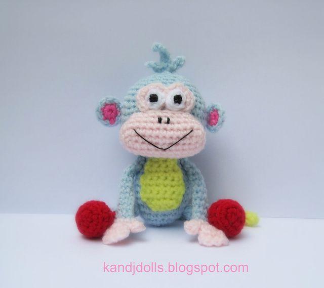 Ravelry: Boots - PDF Amigurumi monkey crochet pattern pattern by ...