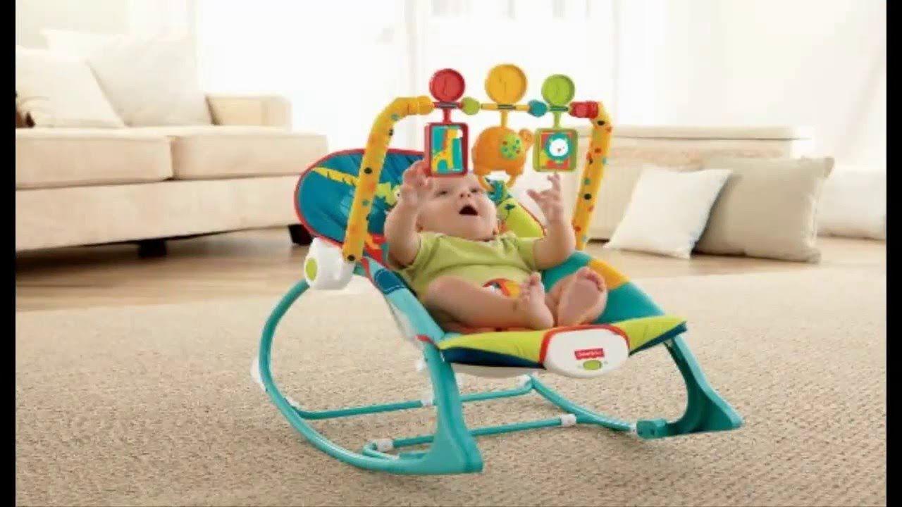 Fisher-Price Infant-to-Toddler Rocker Dark Safari New