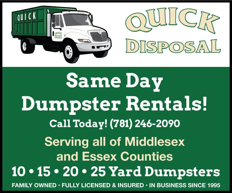 Easy dumpster rentals are our specialty call quick