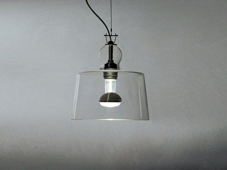 Lampade In Vetro Soffiato : Lampada a sospensione in vetro soffiato acquatinta by produzione