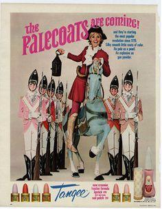 1968 Tangee Palecoat Lipstick Print Ad