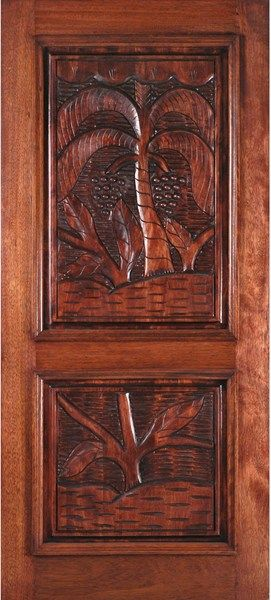 Hand Carved Doors Exterior Hand Carved Doors 187 Mahogany