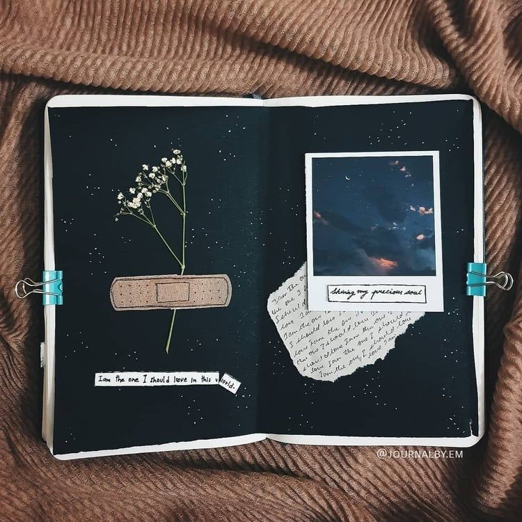 Love this journal page idea. on We Heart It