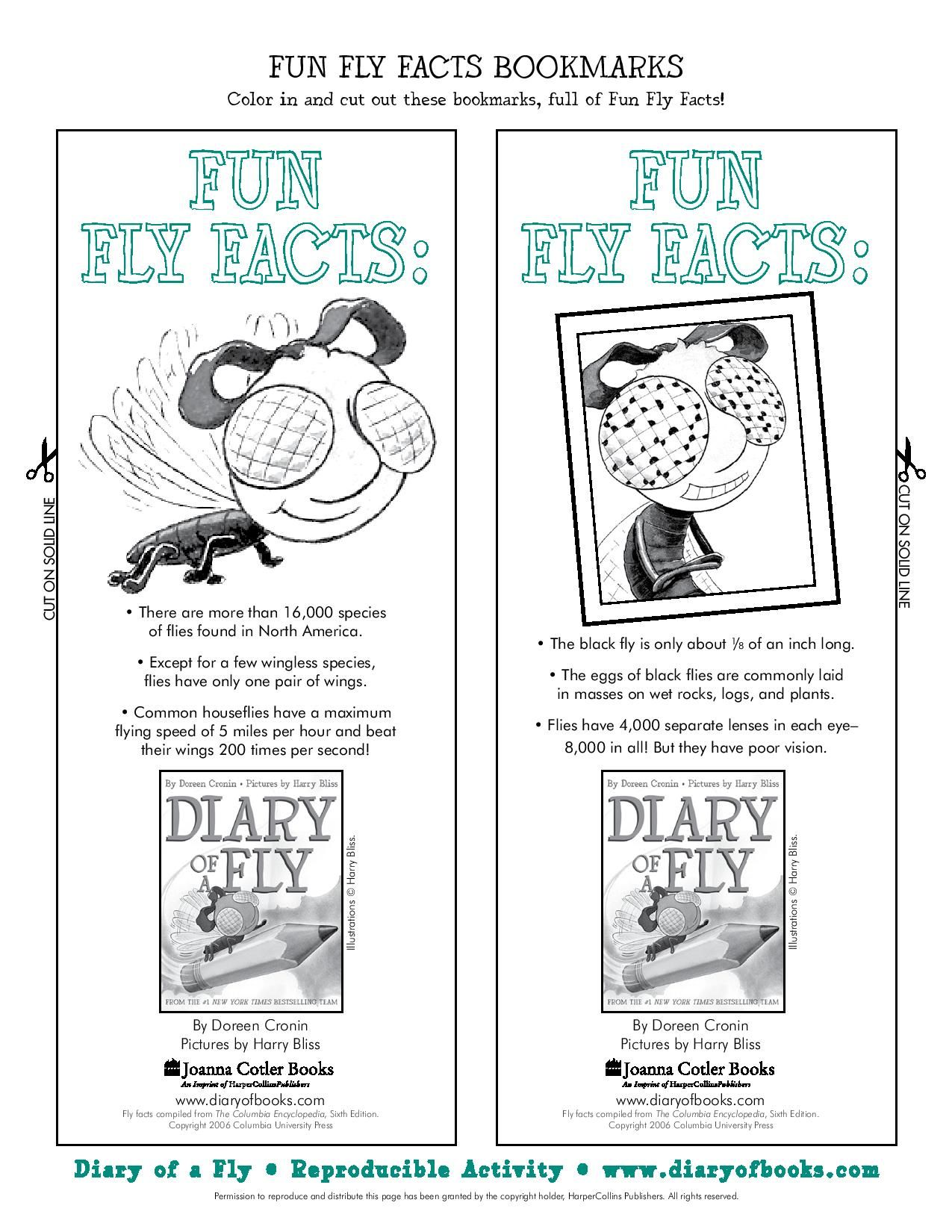 Worksheets Ight Worksheets print your own diary of a fly bookmarks printables for parents bookmarks