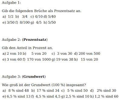 Mathe ist einfach: Aufgaben Prozentrechnung Blatt 1 ...