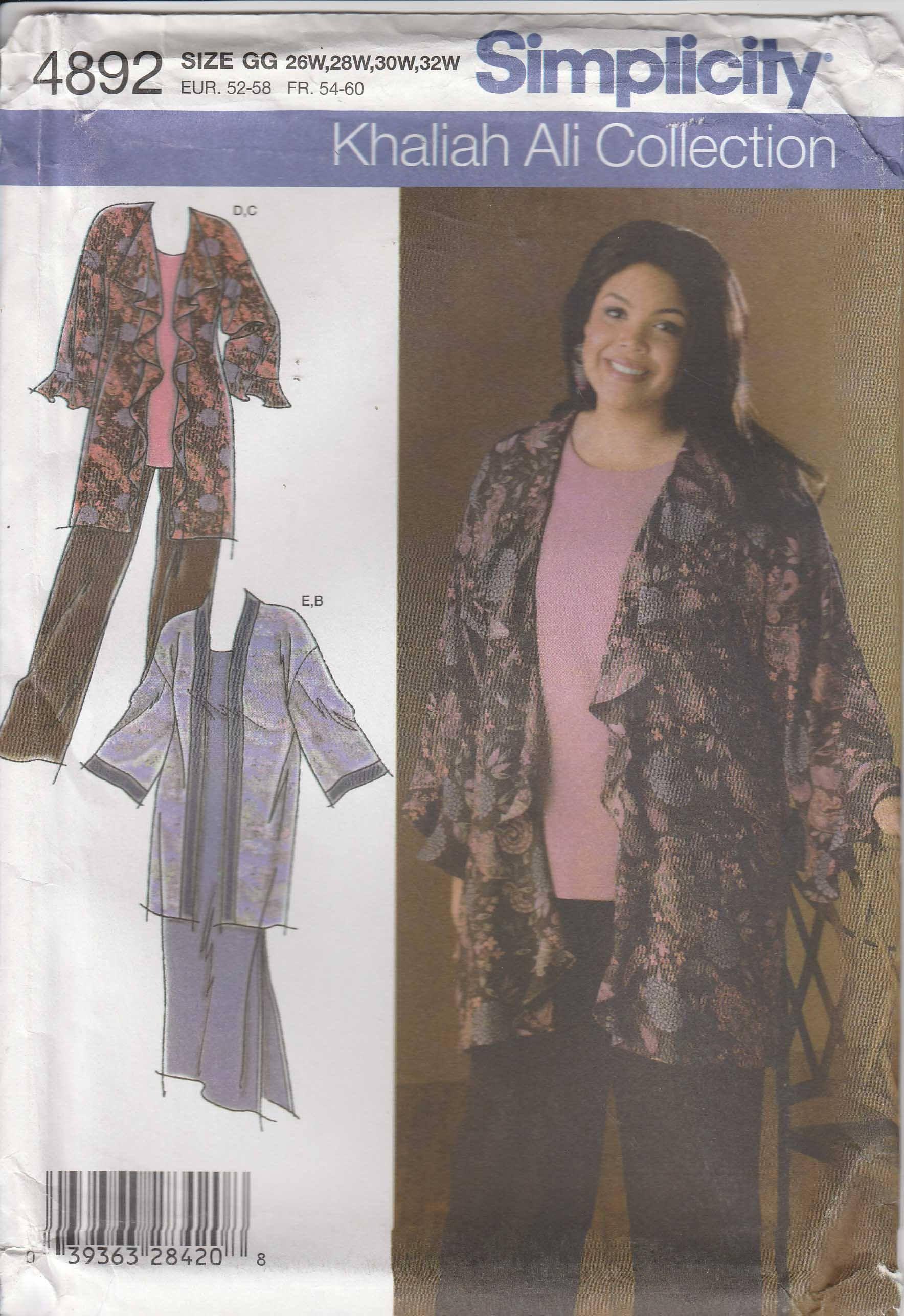 Kimono pattern pants tunic dress womenus plus size w w uncut
