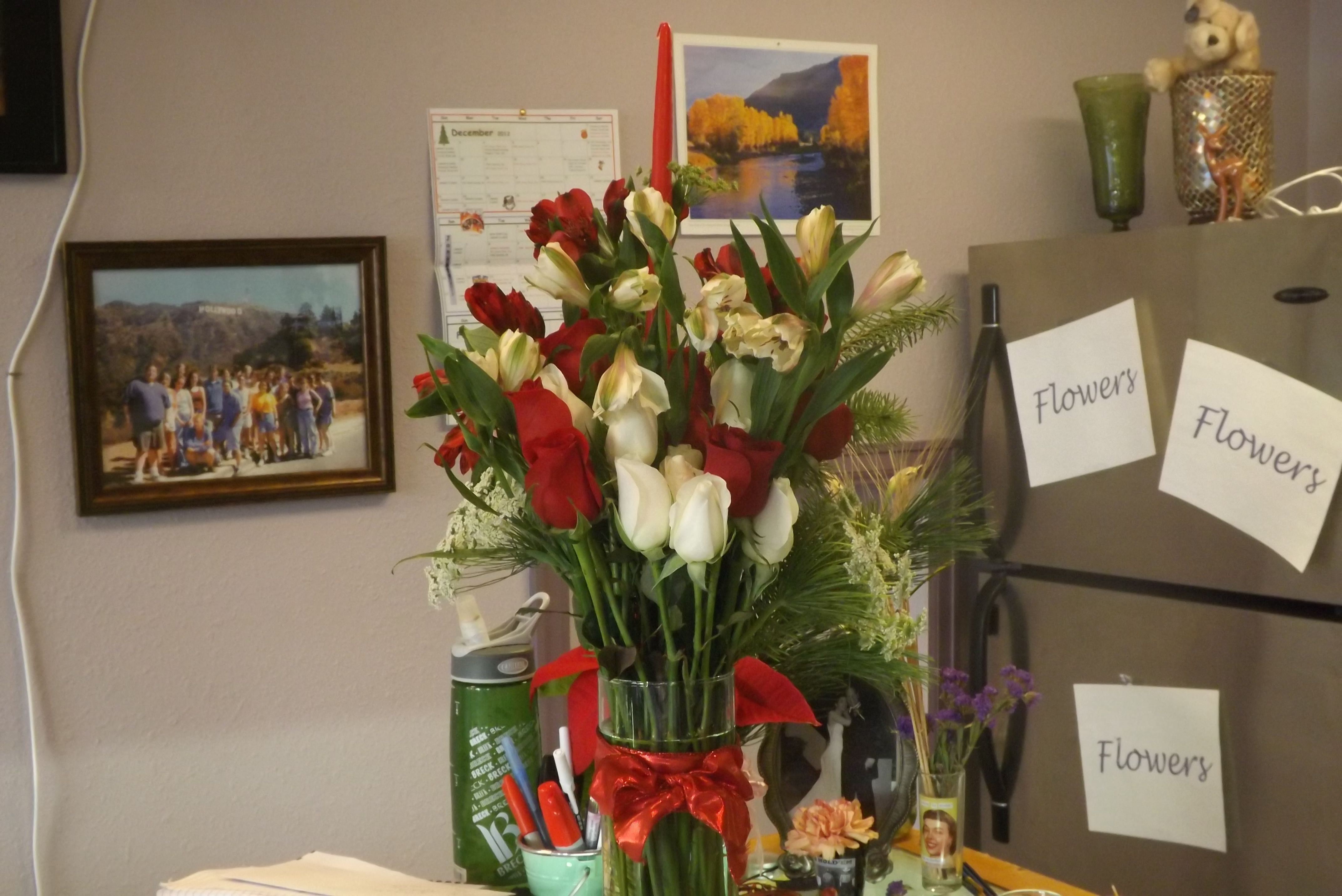 The first Christmas arrangement for the season 2012