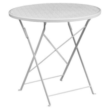 Delightful Flash Furniture 30 Inch Round Indoor Outdoor Steel Folding Patio Table,  Multiple Colors,