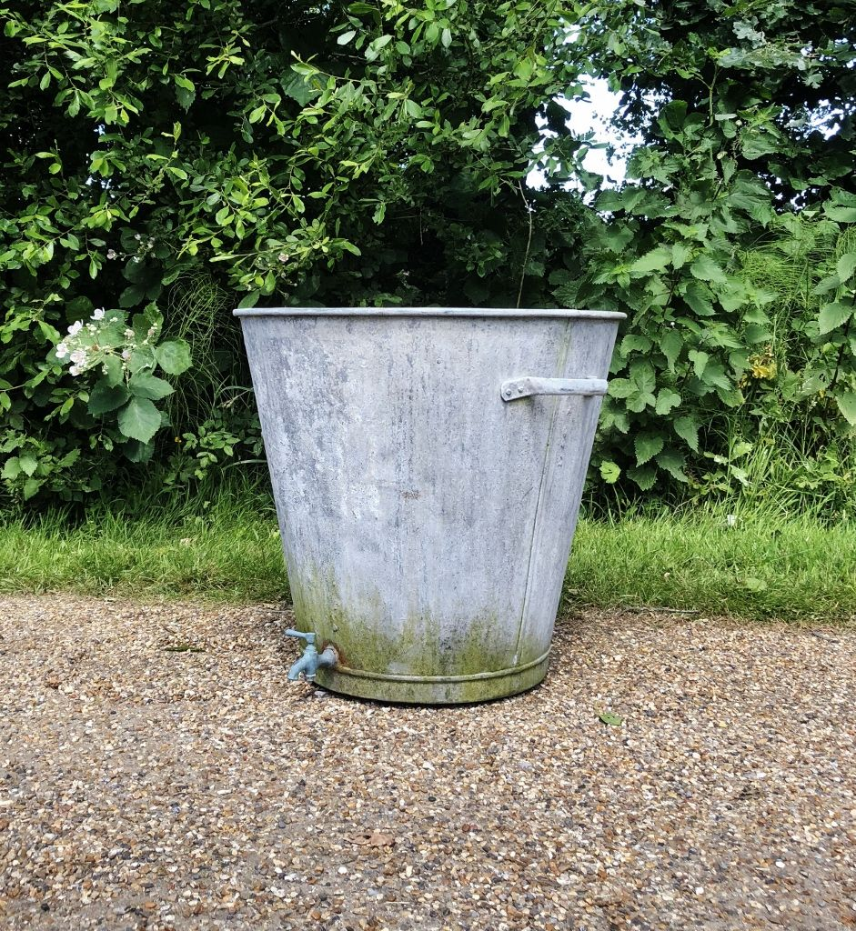 Galvanised Planter In Architectural And Gardenalia From The Vintage Garden Company Galvanized Planters Planters Vintage Garden