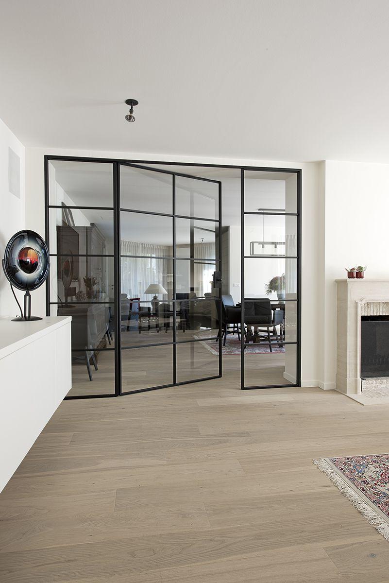 Double Porte Verriere Interieure dubbele smeedijzeren deur met glas | aménagement intérieur