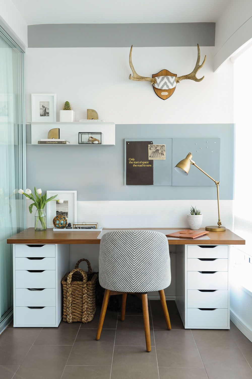 schicker Stuhl | Arbeitszimmer | Bureau, Deco bureau und Mobilier de ...