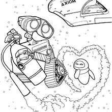 WALL E In Love Coloring Page Free Pages Available For Printing Or Online You Can Print Out And Color This