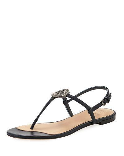 180dcf510 TORY BURCH LIANA FLAT EMBELLISHED THONG SANDAL.  toryburch  shoes ...