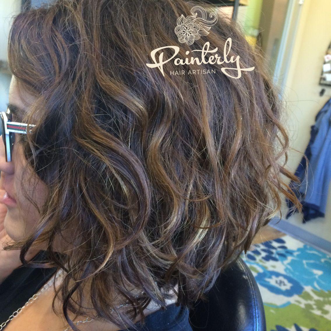 A Line Bob Haircut Diffused For A Beachy Wave Hair Painting