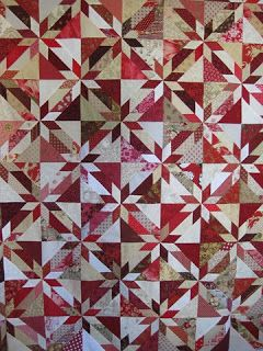 *: Hunters Star Quilt Class - red and neutrals