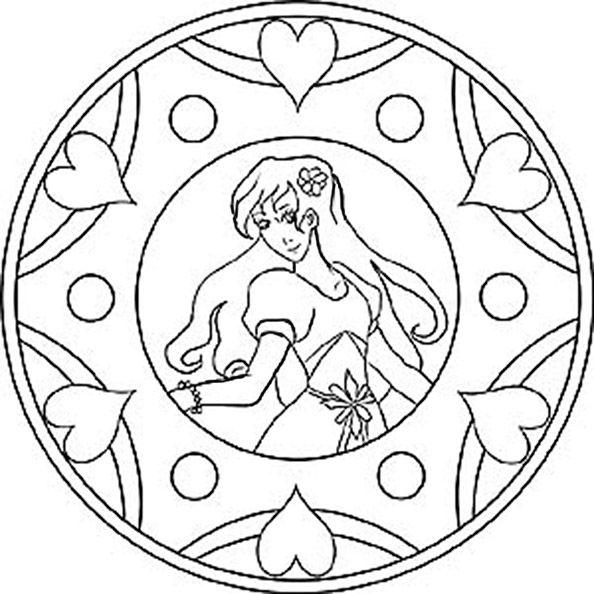 mandalas zum ausdrucken disney  quilting patterns  Pinterest