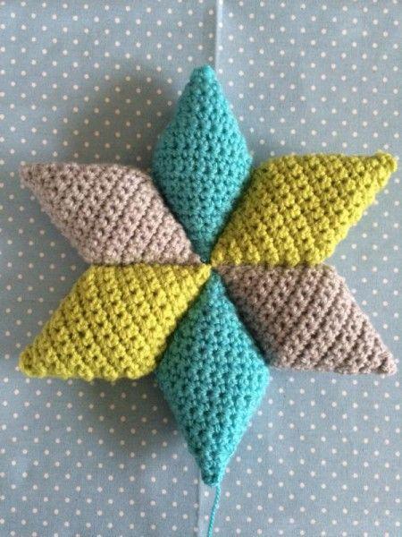 Anleitung Stern Aus Rauten Häkeln Crochet Amigurumi And Crochet