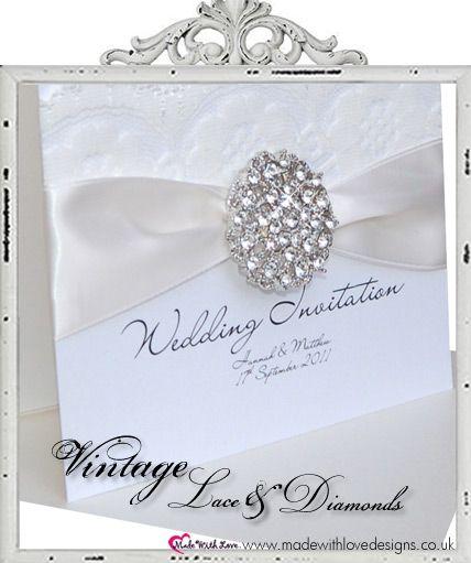 Vintage Diamond Invite