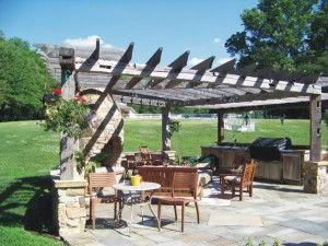 pergola barn wood - Google Search | Rustic patio, Pergola