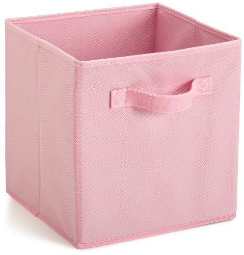 Closetmaid 46817 Cubical Closet Fabric Drawer Pink By Closetmaid 9 80 Material Nonwoven Poly Fabric Storage Bins Fabric Storage Cubes Fabric Storage Boxes