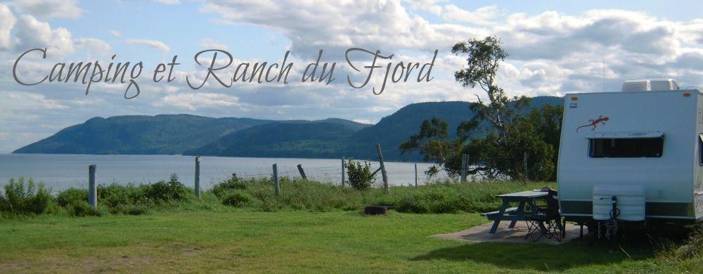 Camping et ranch de randonnées équestres situé au bord du fleuve Saint-Laurent, juste à l'ouest de Tadoussac.