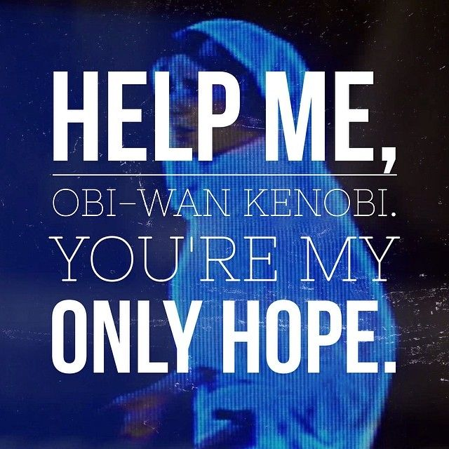 I Can T Believe My Unbelief Has Got Me Thinking Like Help Me Obi Wan Kenobi You Re My Only Hope