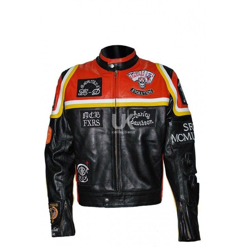 Harley davidson marlboro man vintage biker genuine leather