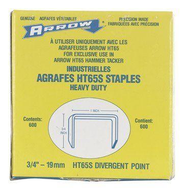 Arrow Fastener 65S 3//4 HT65 Staples