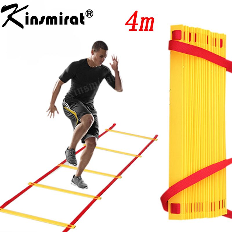 Football Fitness Feet Training 8 Section 4 Meters Long Soccer Training Speed Agility Ladder Carry Bag Outdoor Speed Training Agility Ladder Football Workouts