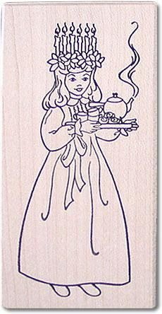 santa lucia rubber stamp lucia christmas