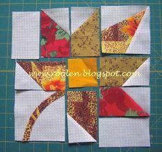 Лоскутная геометрия: tutorial | Crafts | Pinterest | Tutorials ... : maple leaf quilt block - Adamdwight.com