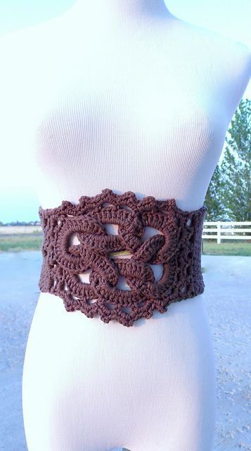 Celtic Knot Belt Pattern By Shana Galbraith Crochet Crochet
