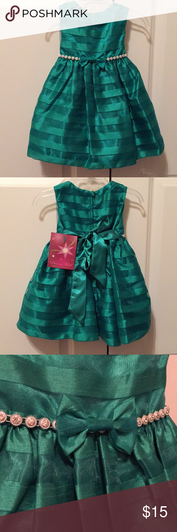 NWT beautiful emerald green party dress! NWT | Green party dress ...
