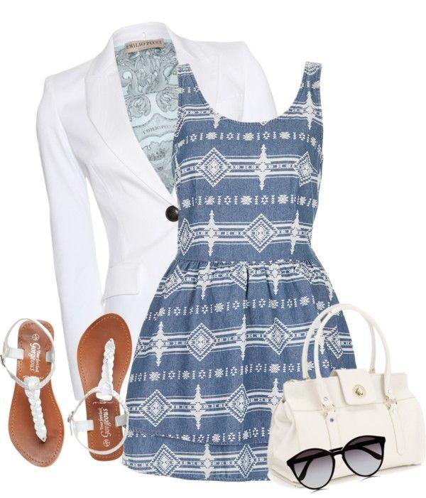 """denim dress 2"" by blueraspberry12 on Polyvore"