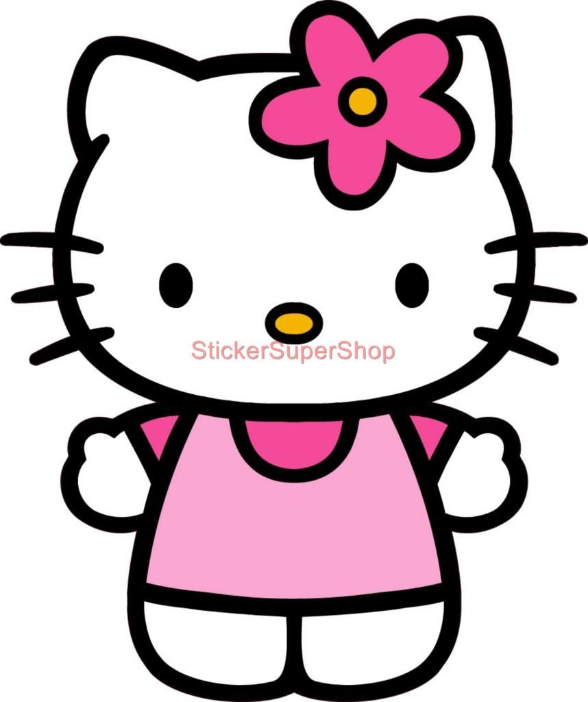 hello kitty  kiss my a** sticker vinyl decal for car and others FINISH GLOSSY