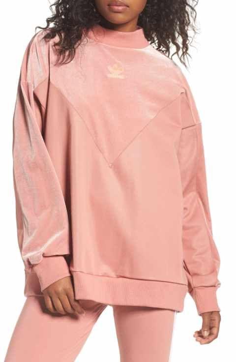 adidas originals Oversize Velvet Sweater  767ce4e0bb