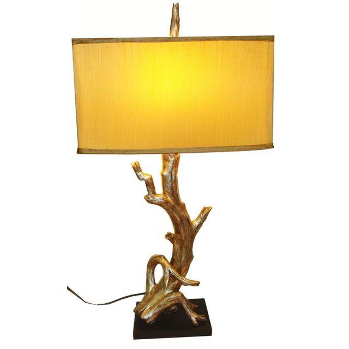 Incroyable Pre Owned Gold Tree Branch Lamp Table By Chairish