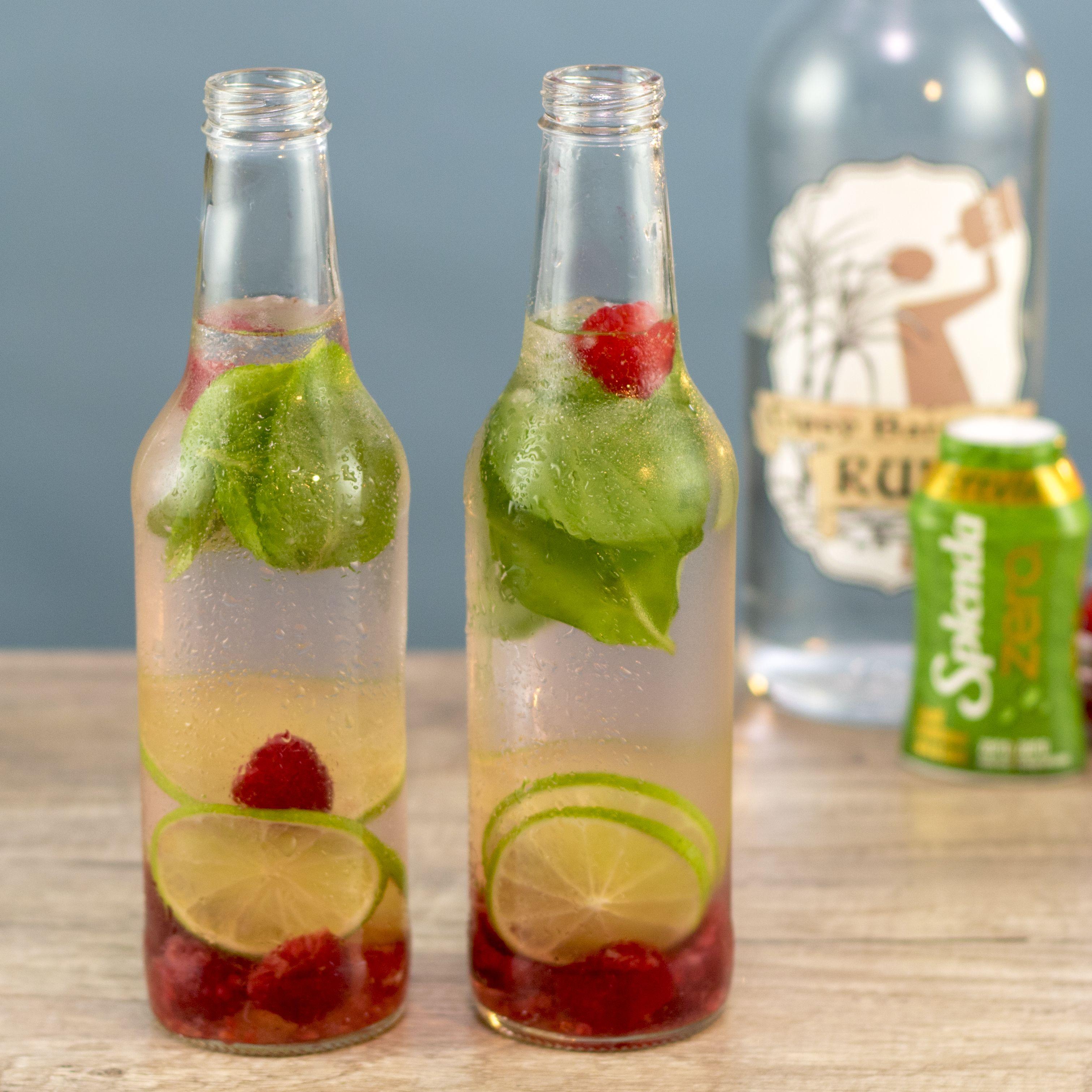 100 Calorie Raspberry Mojito Tipsy Bartender Recipe Fruity Mixed Drinks Frozen Drinks Alcohol Raspberry Mojito