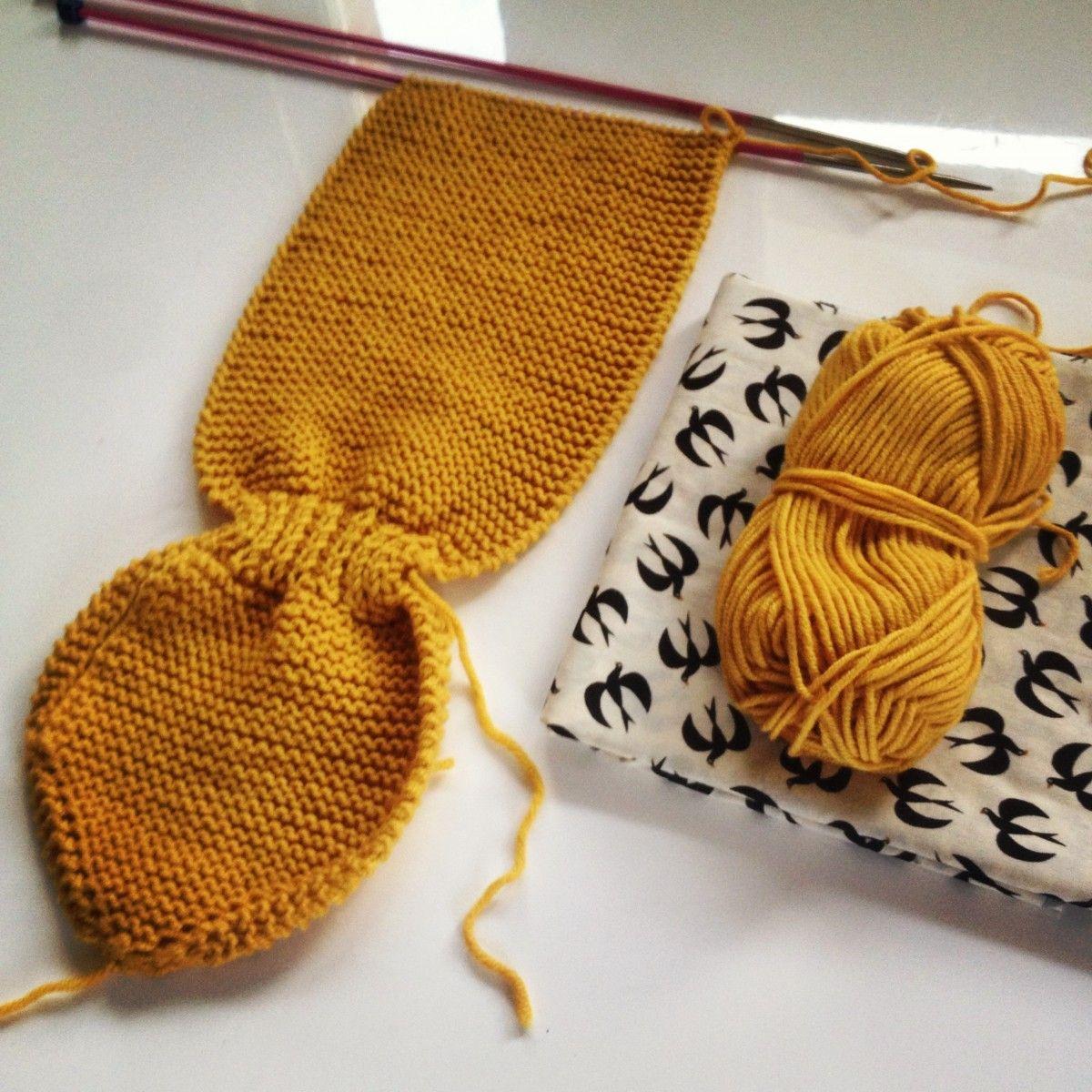 tricoter une echarpe feuille pour bebe