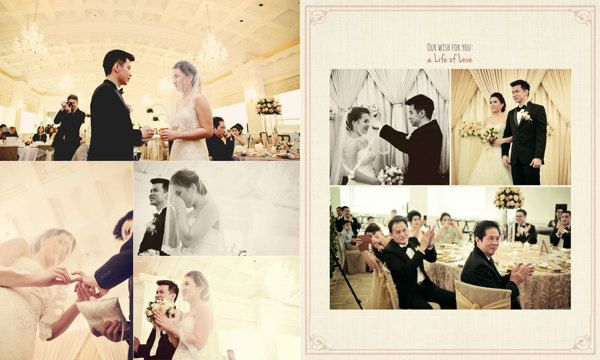 Wedding Day Album Design Photo By Hop By Wenny Lee Via Behance Wedding Album Design Album Design Wedding Album