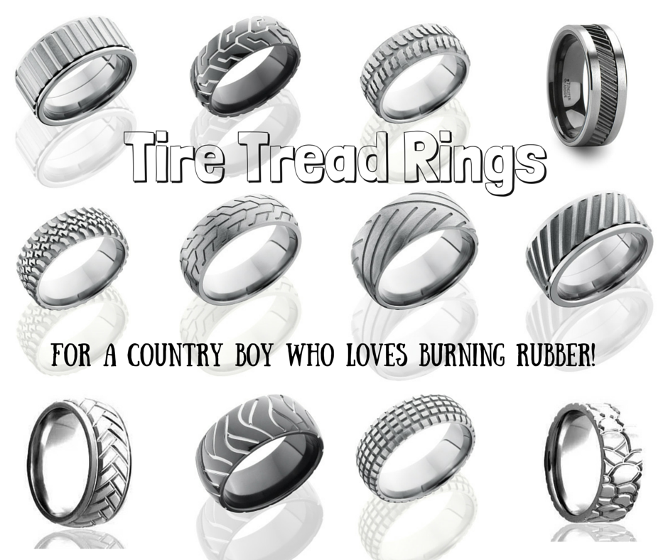 top wedding bands for your country boy - Tire Wedding Rings